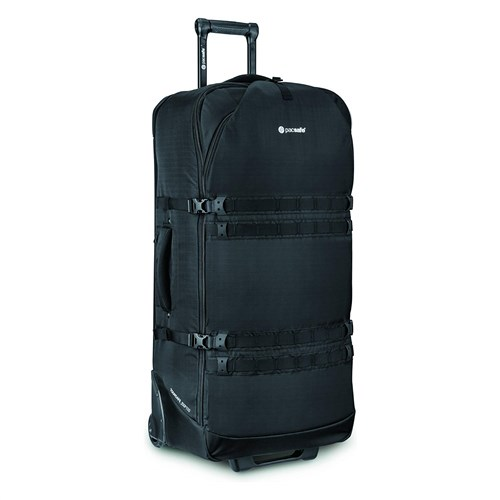 pacsafe venturesafe exp34 wheeled luggage   black