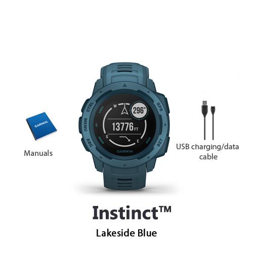 garmin instinct lakeside blue