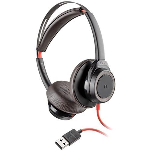 plantronics blackwire 7225 boomless usb a corded headset black