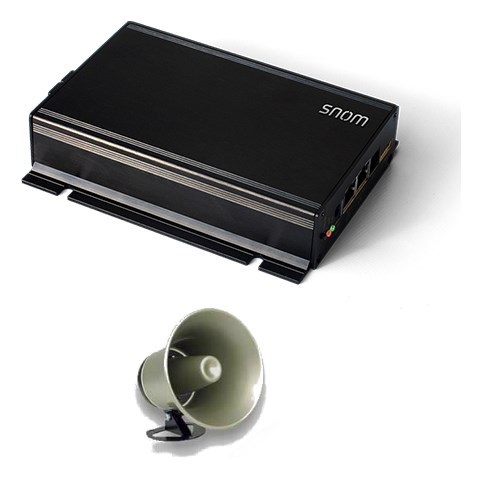 snom pa1 public announcement system with one horn