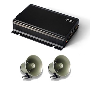 snom pa1 public announcement system w/ two horns