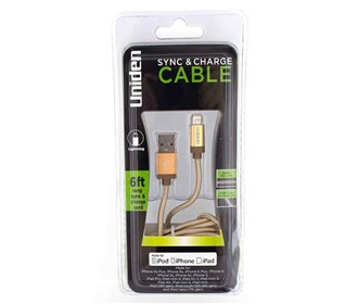 uniden un1196 sync and charge cable gold