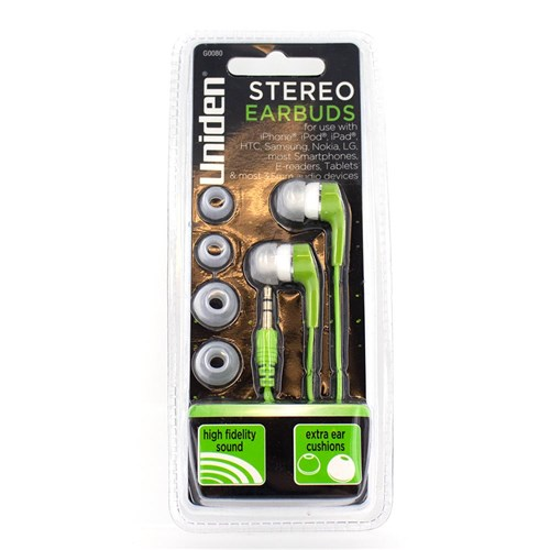 uniden g0080 stereo earbuds