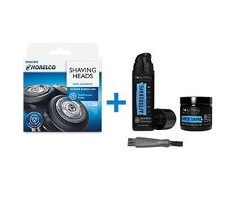 norelco sh50/52 shaving bundle