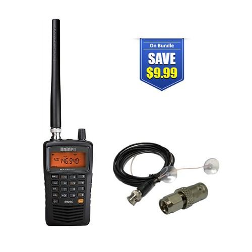uniden bearcat sr30c with mobile scanner antenna