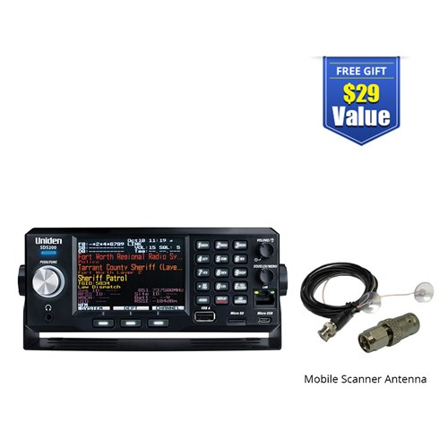 uniden bearcat sds200 with mobile scanner antenna