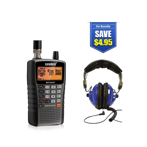 uniden bearcat bc125at with universal headset kit