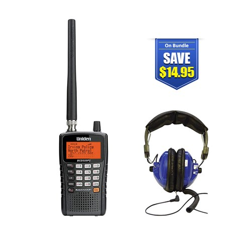 uniden bearcat bcd325p2 with universal headset kit