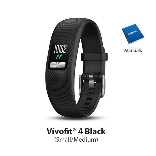 garmin vivofit 4 black small/medium