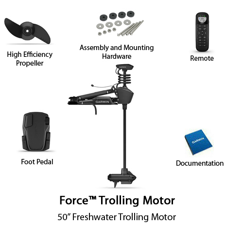garmin force trolling motor 50 shaft