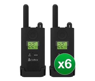 cobra px500 walkie talkies six pack