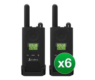 cobra px880 walkie talkies six pack