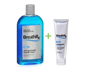 breathrx mouth rinse and toothpaste essential bundle