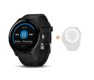 garmin vivoactive 3 music with screen protector bundle