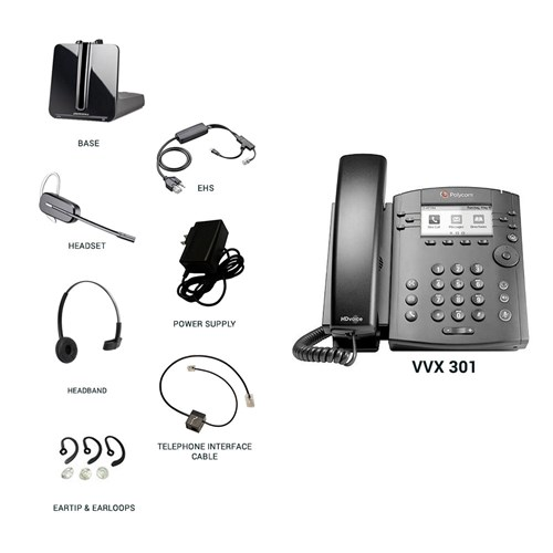 polycom vvx 301 with plantronics cs540