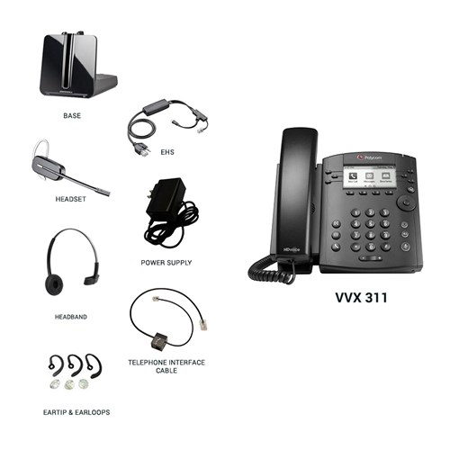 polycom vvx 311 with plantronics cs540