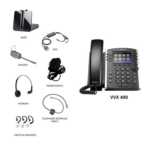 polycom vvx 400 with plantronics cs540