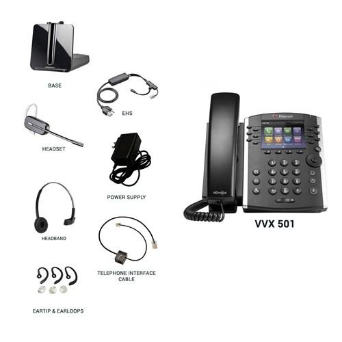 polycom vvx 501 with plantronics cs540