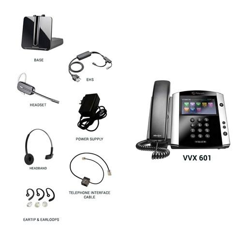 polycom vvx 601 with plantronics cs540