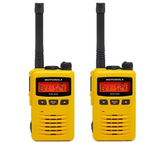 motorola evx s24 uhf yellow 2 pack