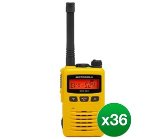 motorola evx s24 uhf yellow 36 pack