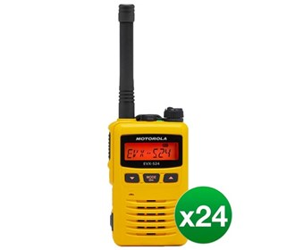 motorola evx s24 uhf yellow 24 pack
