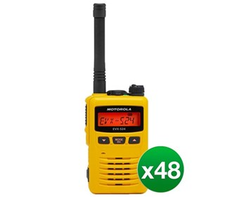 motorola evx s24 uhf yellow 48 pack