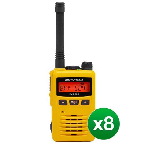motorola evx s24 uhf yellow 8 pack