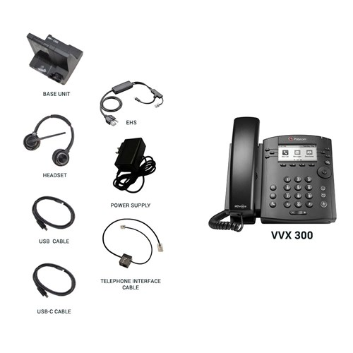 polycom vvx 300 with plantronics w8220 and ehs cable