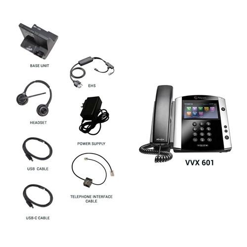 polycom vvx 601 with plantronics w8220