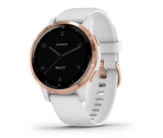garmin vivoactive 4s white with rose gold hardware