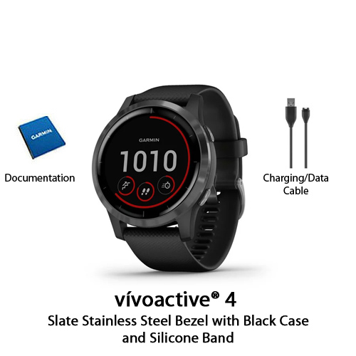 garmin vivoactive 4 black with slate hardware