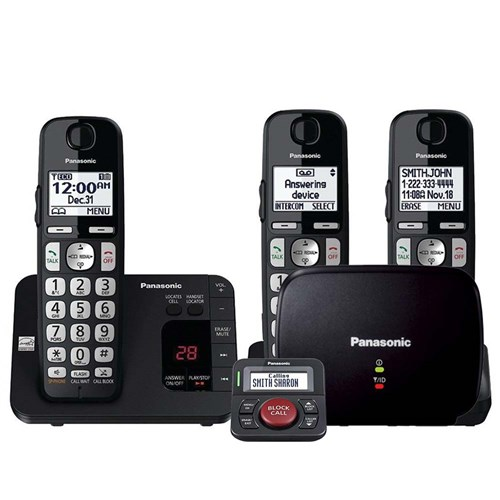 panasonic kx tge433b with range extender and call blocker