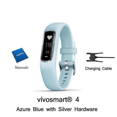 garmin vivosmart 4 blue w/ silver small medium
