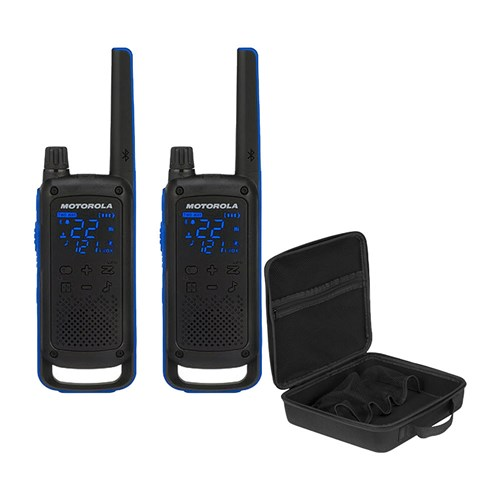 motorola t800 kit includes pmln7221ar molded soft carry case to two way radios