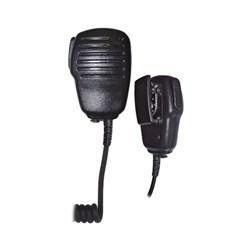 """<ul> <li><span class=""""blackbold"""">Speaker &amp; Microphone</span> </li> <li>Compact Mini Size</li> <li>3.5mm Audio Port</li> <li>Strong Strain Relief</li> <li>Super Rugged <span class=""""bluebold"""">Push-To-Talk</span> Switch</li> <li>Swivel Clothing Clip</li> </ul>"""