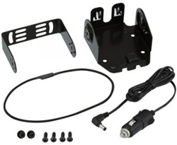 <ul> <li><span class="blackbold">Mobile Vehicle Charger Adapter</span></li> <li>Cigarette Lighter Adapter</li> <li>Mounting Bracket</li> <li>Charges Battery or Radio w/ Battery Pack</li> <li>Includes Screw Set &amp; Instruction Manual</li> </ul>