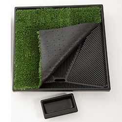 "<ul>   <li><span class=""blackbold"">Replacement Grass</span>   <li>Synthetic Grass Pad</li> <li>Allows Urine To Pass Through &amp; Collect In Catchment Containet</li>   <li>Feels Like Grass</li>   <li>Easy To Keep Clean</li> <li><span class=""redbold"">Available In Three Sizes : </span> <br />- Small (17"" X 20"") <br />- Medium (24"" x 23"") <br />- Large (33"" x 33"")</li>  </ul>"