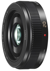 """<ul> <li><span class=""""redbold"""">Lumix G-Series 20mm / F1.7 Lens </span></li> <li>Micro Four Thirds Mount </li> <li><span class=""""bluebold"""">Lens Construction: 7 Elements in 5 Groups </span></li> <li>Maximum Diameter: 63mm </li> <li><span class=""""blackbold"""">20mm Focal Length / F1.7 Aperture Range  </span></li> <li>7.87"""" Minimum Focusing Distance </li> <li>Multi-Coated Lens Elements </li> </ul>"""