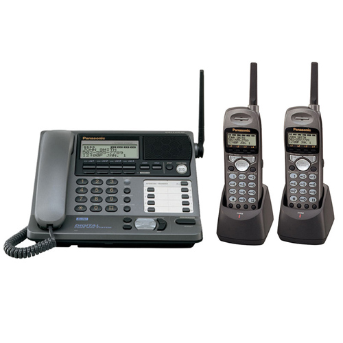 panasonic kx tg4000b plus 2 kx tga400b