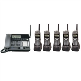 panasonic kx tg4000b plus 5 kx tga400b