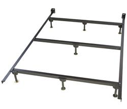 """<ul> <li>Bed Frame</li> <li><span class=""""redbold"""">Patented Locking System</span></li> <li>Constructed From Recycled Railroad Steel</li> <li><span class=""""blackbold"""">1 3/4"""" High Carbon Side Rails</span></li> <li>No Tools Needed to Assemble</li> <li>Designed & Built in the USA</li> </ul>"""