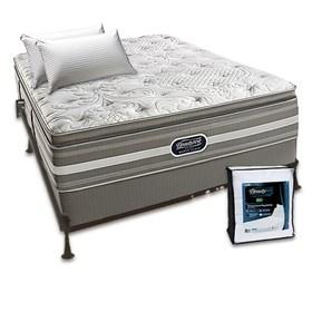 beautyrest recharge world class salem luxury firm pillow top queen bundle