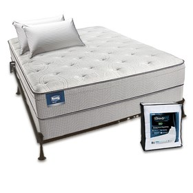 simmons beautysleep cadosia plush euro top twin size mattress bundle