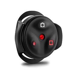 """<ul> <li><span class=""""blackbold"""">VIRB&trade; Remote Control</span></li> <li>Controls Camera From Up to 10 m Away</li> <li><span class=""""bluebold"""">Offers ANT+ Wireless Connectivity</span></li> <li>Circular Top Face w/ 3 Buttons</li> <li>Automatic Sleep Mode</li> <li>2 LED Indicators</li> </ul>"""