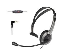 "<ul> <li>Over the Head Headset</li> <li>Easy Hands-Free Conversation</li> <li><span class=""redbold"">Noise-Canceling Microphone</span></li> <li>Adjustable Boom Works For Either Ear</li> <li>Volume Control w/ Mute Button</li> <li>Stable Adjustable Headband</li> <li>Standard 2.5mm Headset Plug</li> </ul>"
