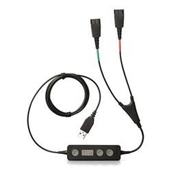 """Product # 265-09 <ul>   <li><span class=""""blackbold"""">Dual Cable USB</span></li>   <li><span class=""""redbold"""">Acoustic Protection</span></li>   <li>Plug &amp; Play Solution</li>   <li>Digital Signal Processing</li>   <li><span class=""""bluebold"""">All Corded Headsets (QD) Compatible</span></li>   <li>Interference-Free Sound Transmission</li>   <li>No Software Installation Required</li> </ul>"""