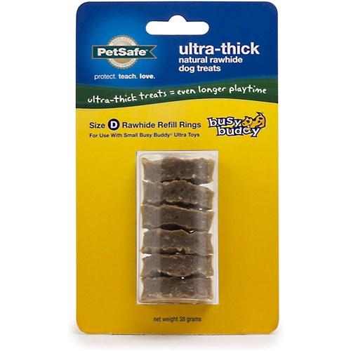 petsafe busy buddy ultra thick natural rawhide rings