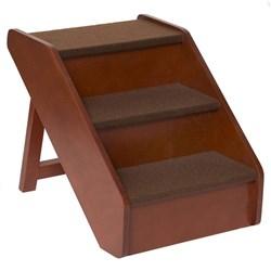 """<ul> <li><span class=""""blackbold"""">Folding Wood Stair</span></li> <li><span class=""""bluebold"""">Real Wood Construction</span></li> <li>Rich Cherry Finish</li> <li>Easy Assembly</li> <li>No Slipping</li> <li>Durable</li> <li>Simple To Store </li> </ul>"""