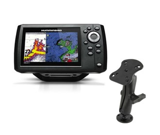 humminbird helix 5 g2 chirp sonar gps combo with ram mounts electronic mount